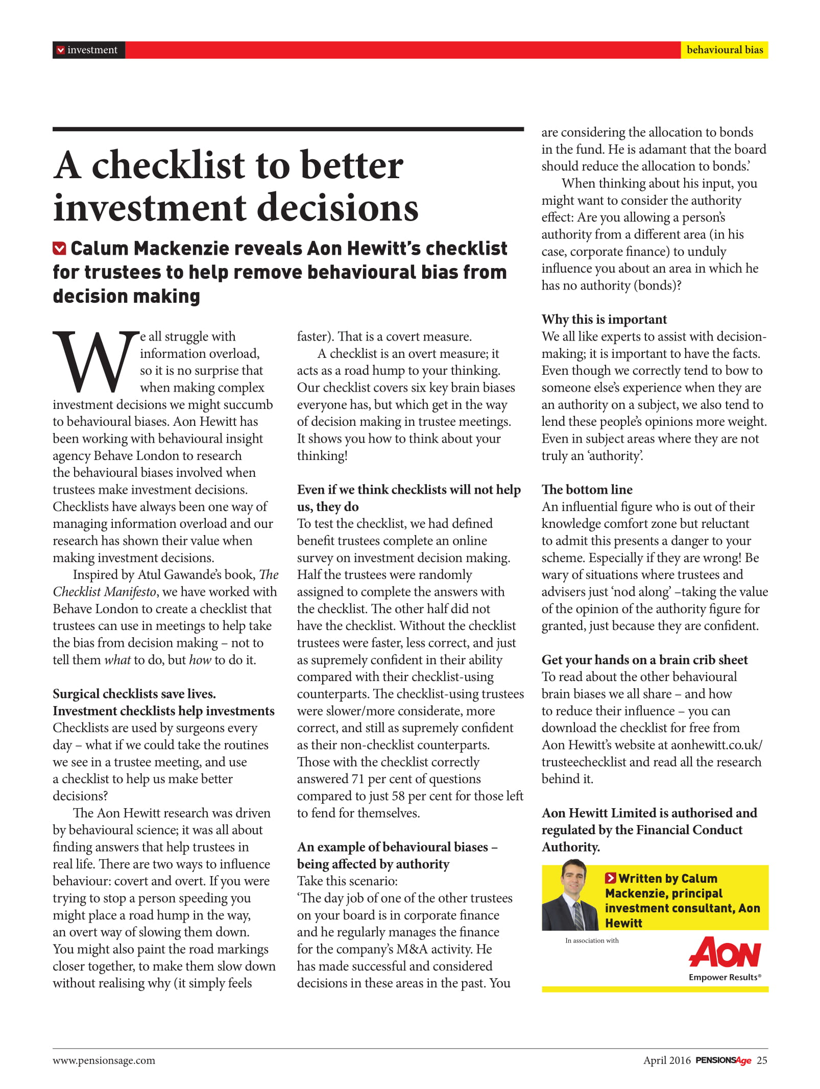 checklist for better investment decisions