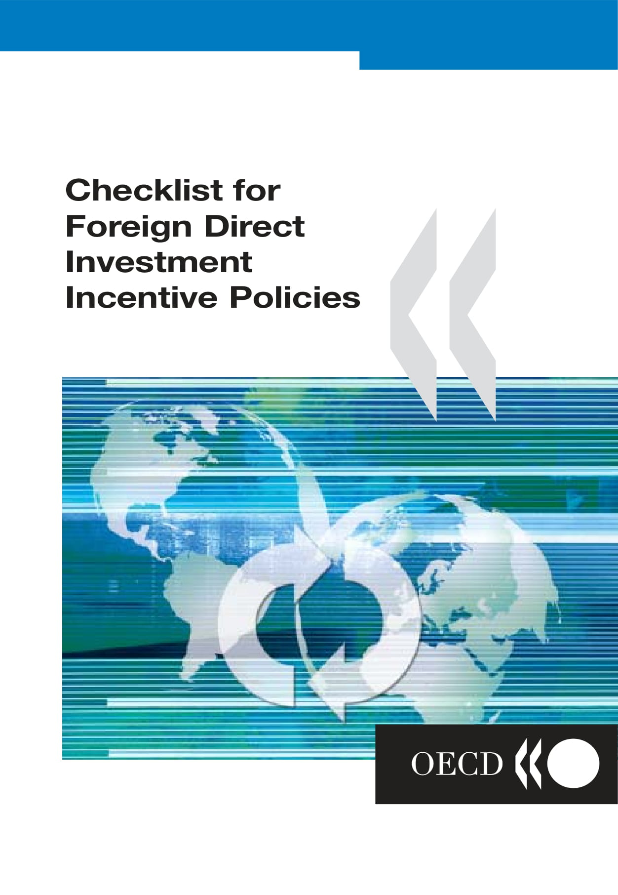 checklist for foreign direct investment incentive policies