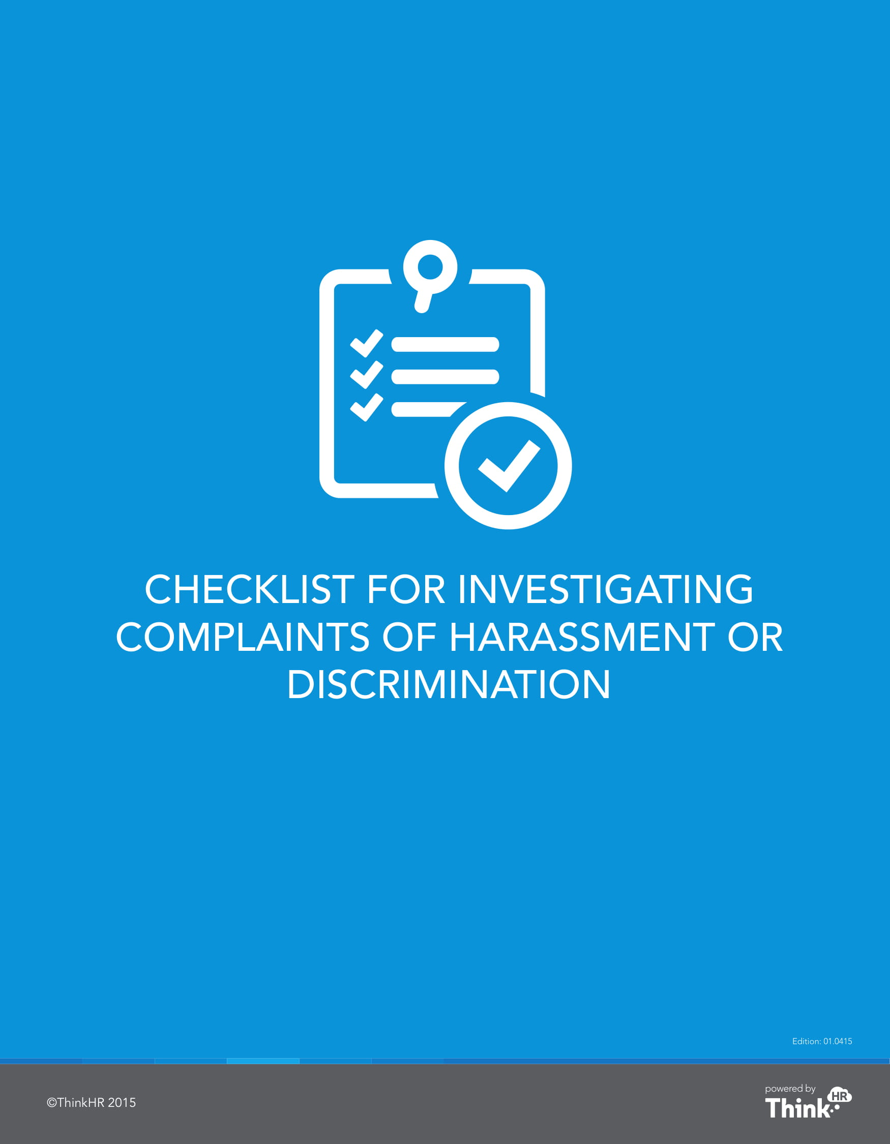 checklist for investigating complaints of harassment or discrimination example