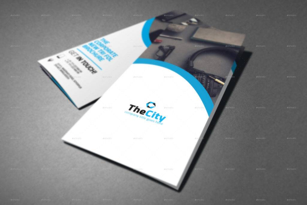 clean corporate trifold brochure design