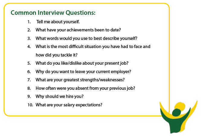 sample questions and answers for job interviews