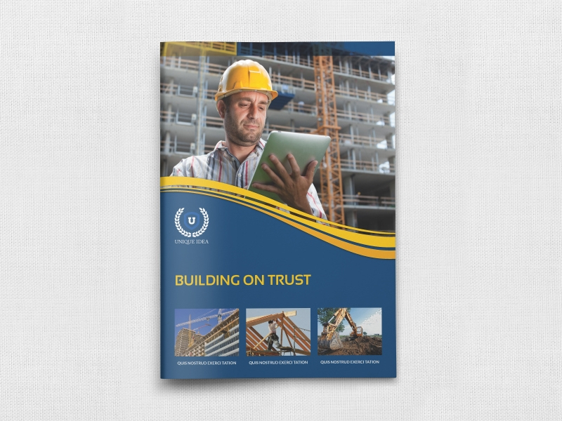 construction brochure template example