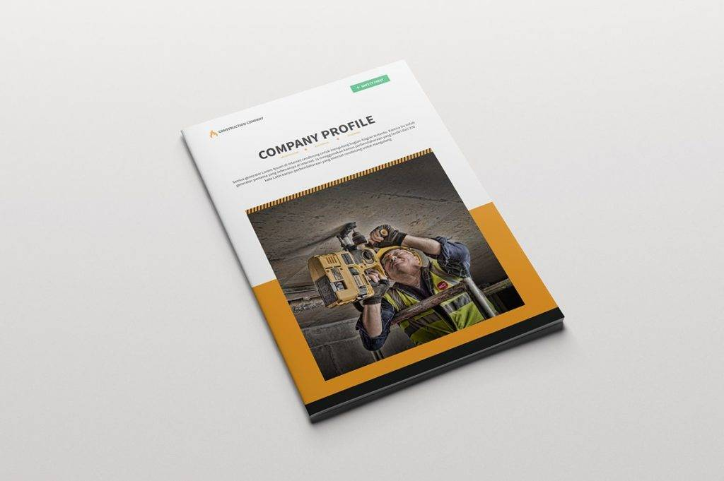 construction company brochure example
