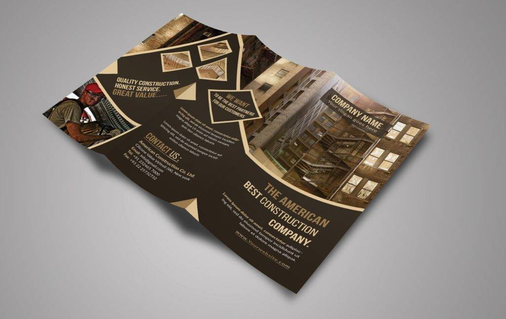 construction tri fold brochure example