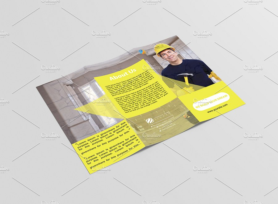 constructional tri fold brochure example