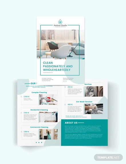 consultant bi fold brochure template