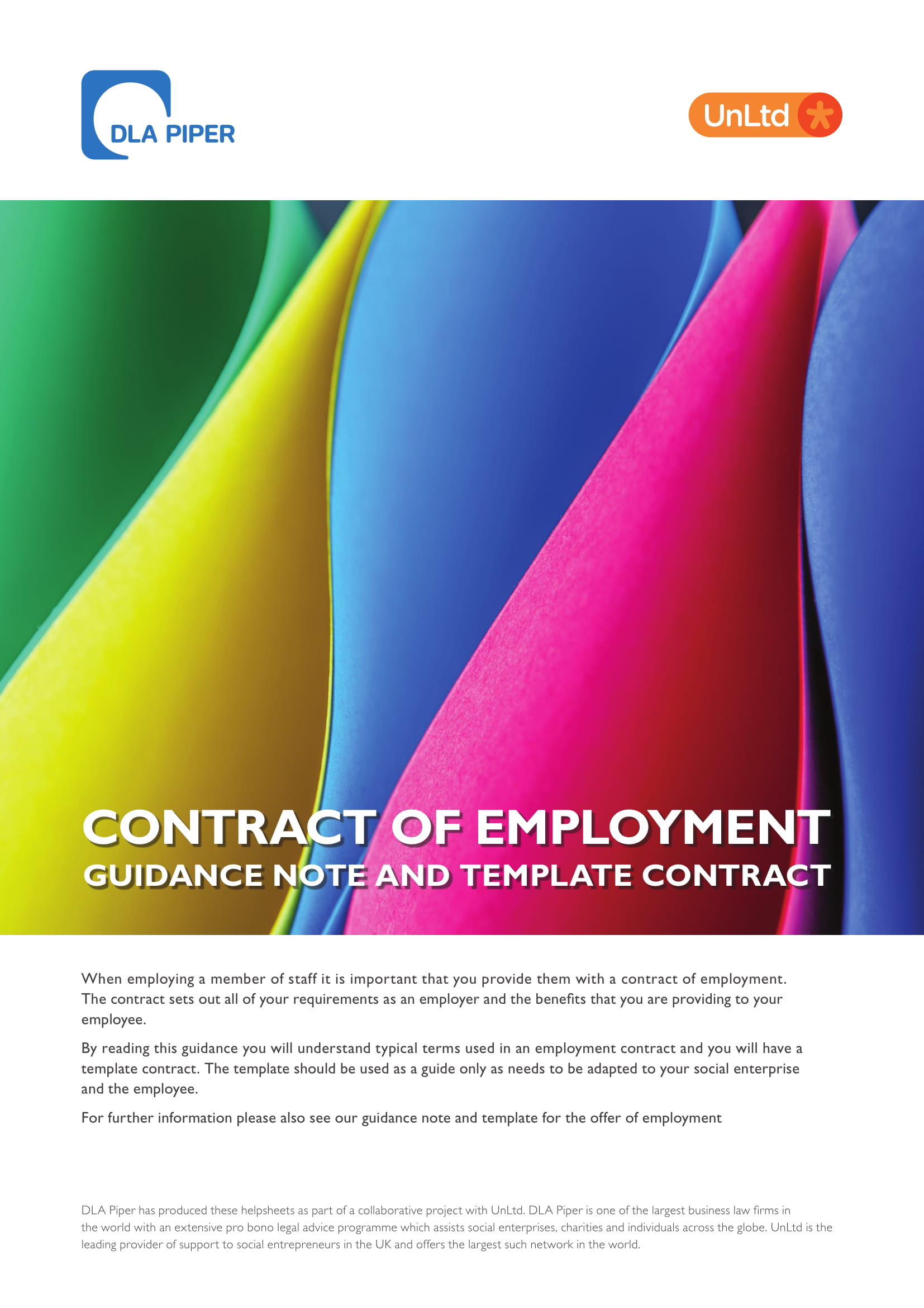 contract of employment guidance note and template contract