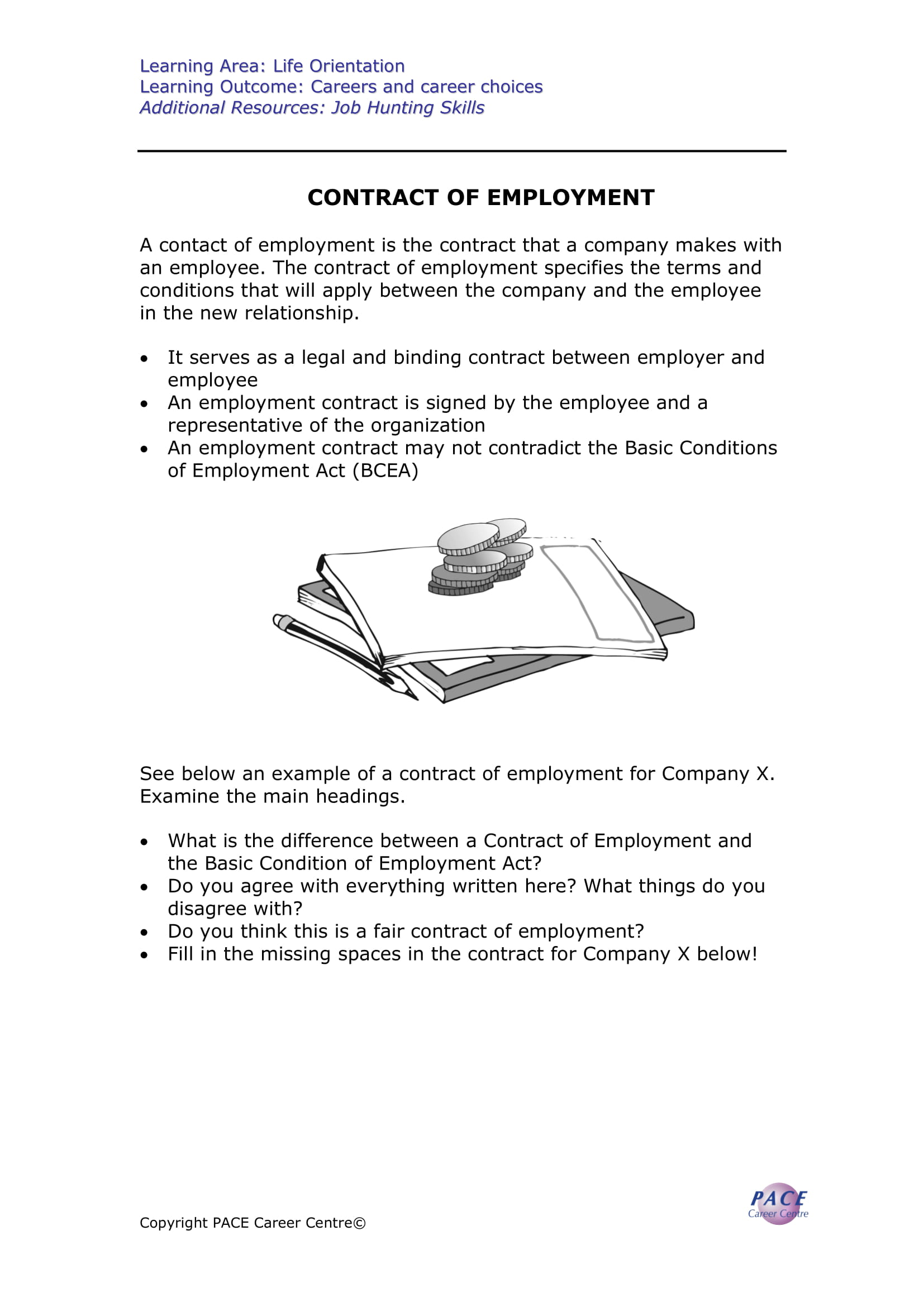contract of employment template and guide