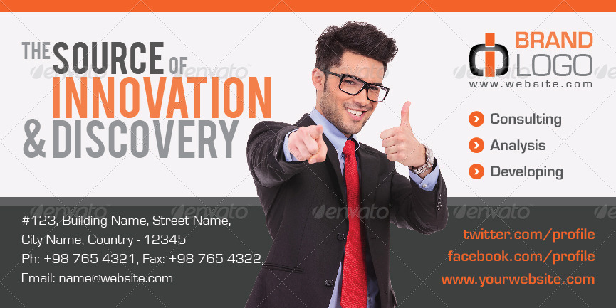 corporate billboard banner template example