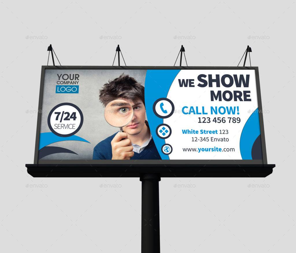 corporate billboard template example