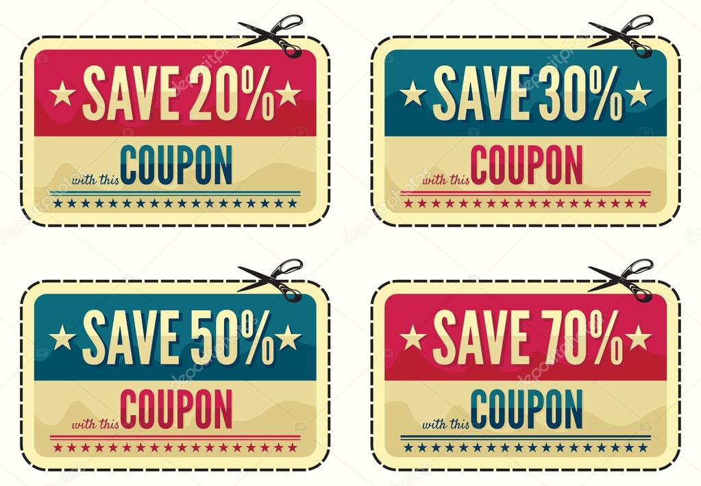 coupon sale collection stock illustration