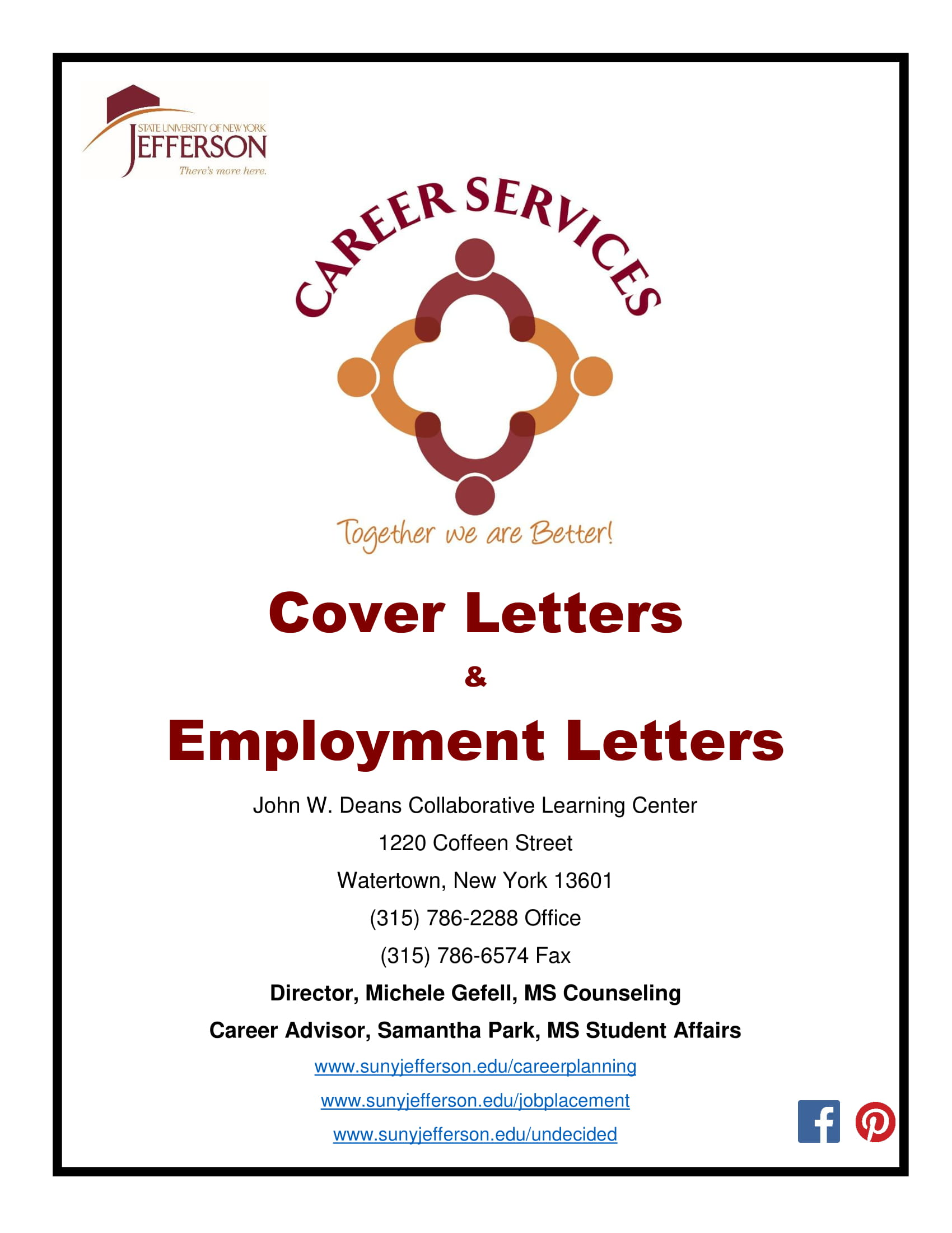 cover letter booklet
