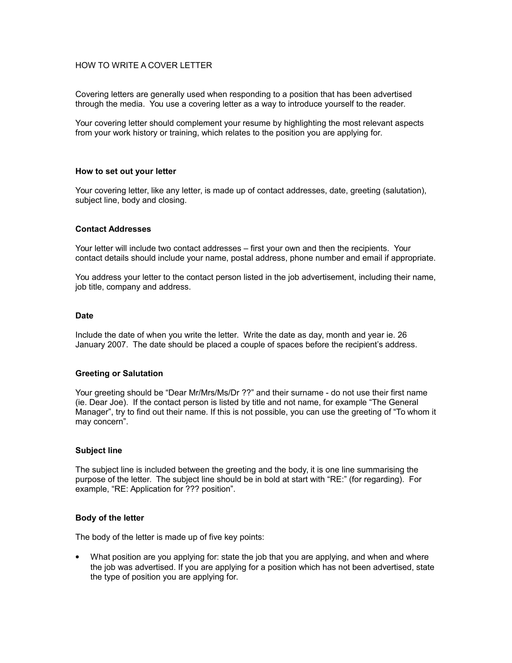 Cover Letter No Recipient from images.examples.com