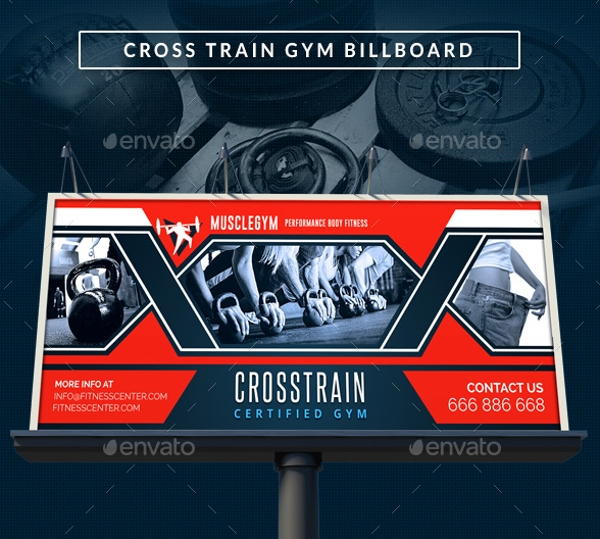 cross training gym signage billboard