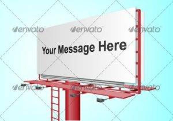 customizable billboard vector