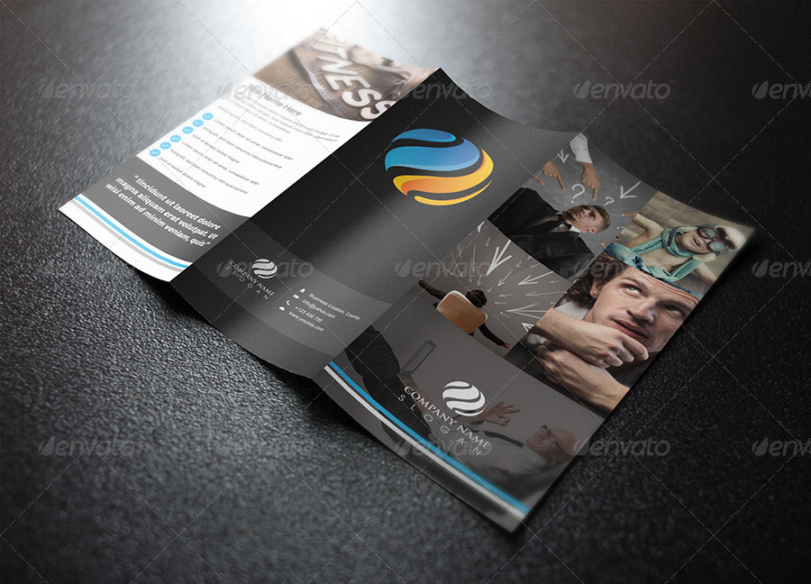 customizable clean trifold brochure template design