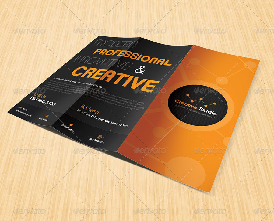 Studio Brochure Designs And Examples  Psd Ai