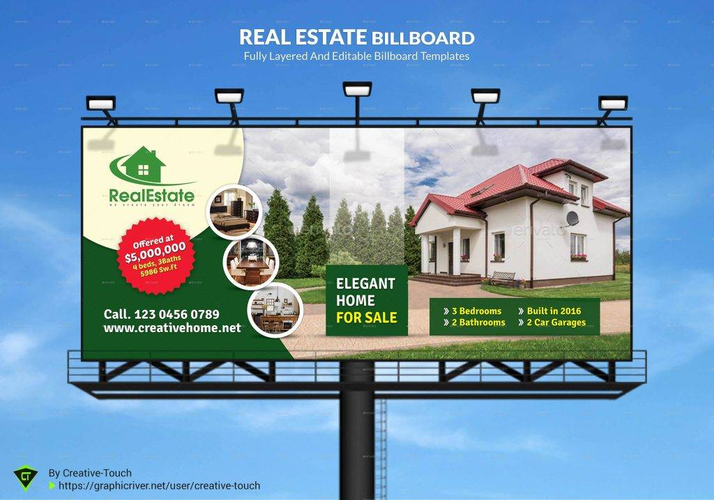 customizable real estate billboard