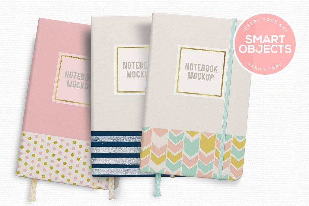 cute notebook mock up design