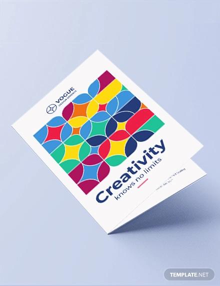 design studio bi fold brochure template