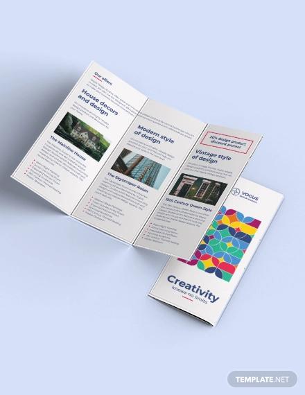 design studio tri fold brochure template