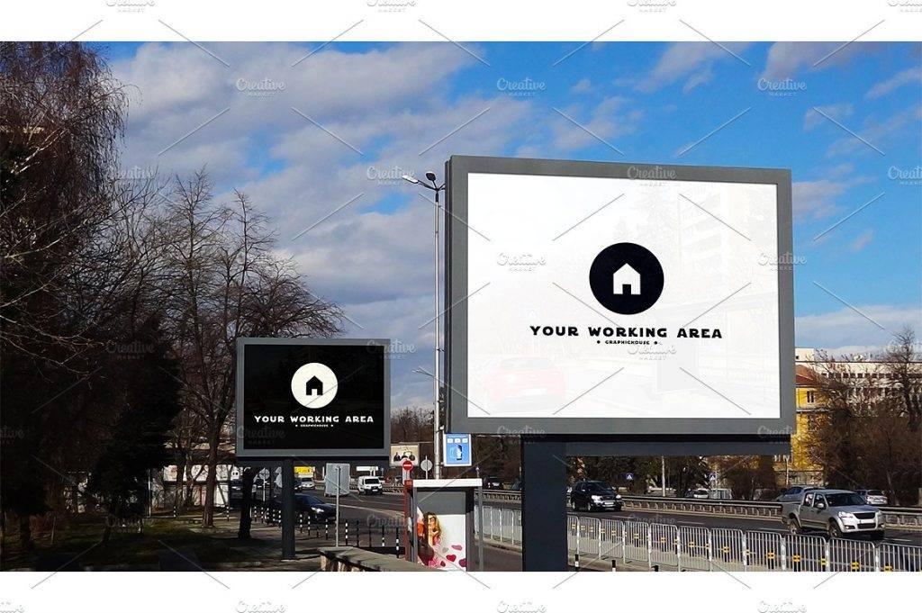 double city billboard mock up