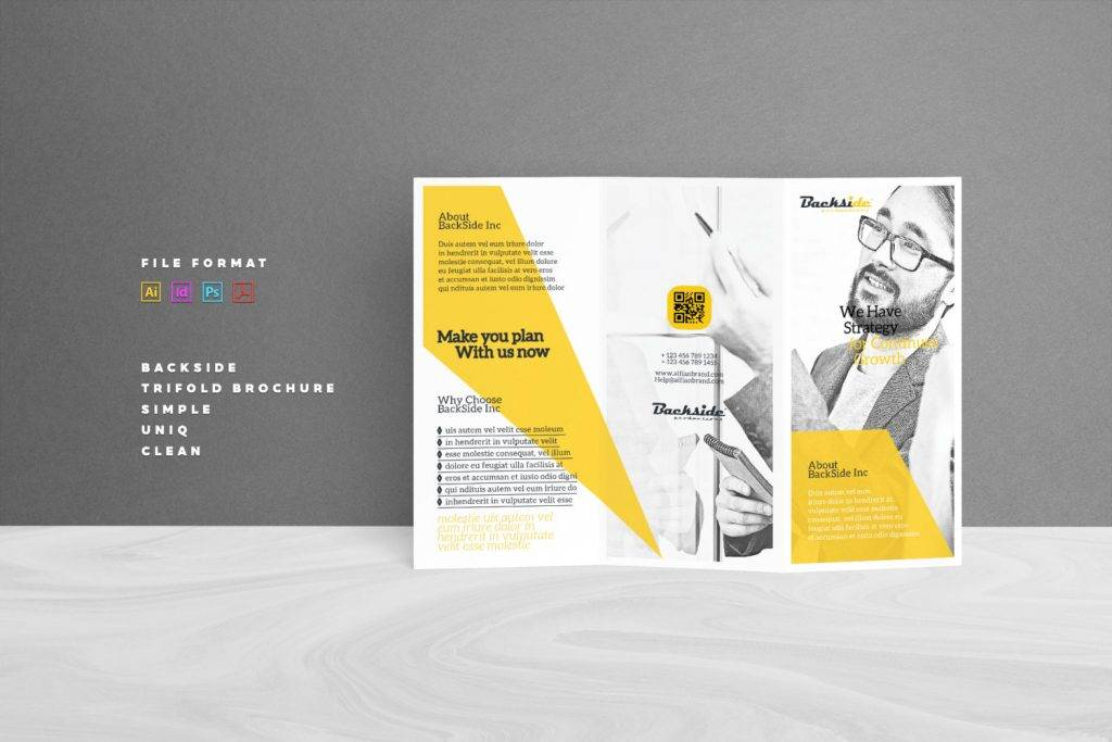 downloadable business tri fold brochure