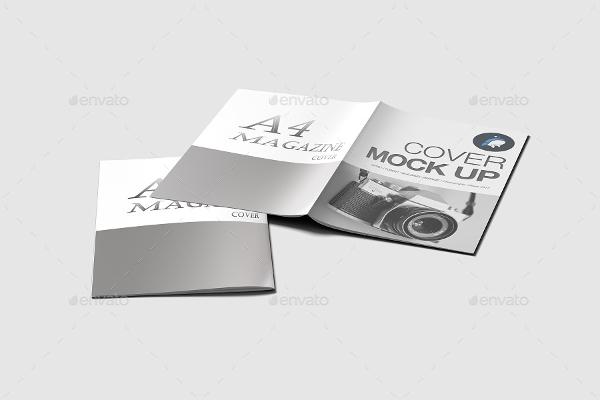 editable a4 brochure mockup
