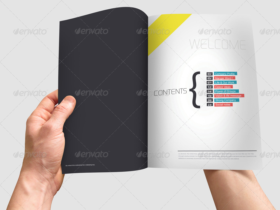 editable annual report brochure