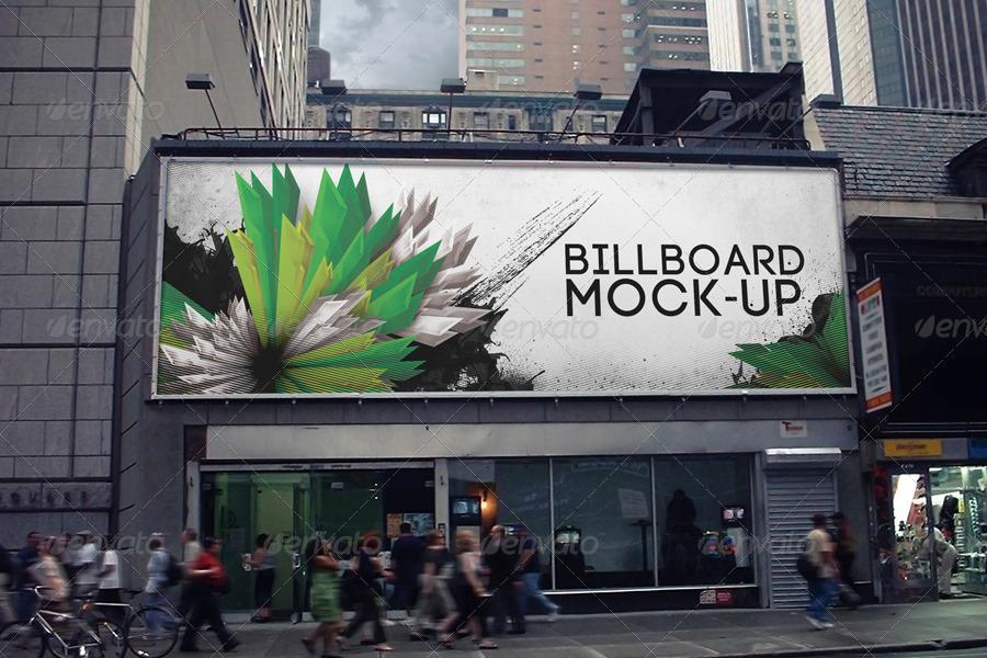 editable billboard mock up
