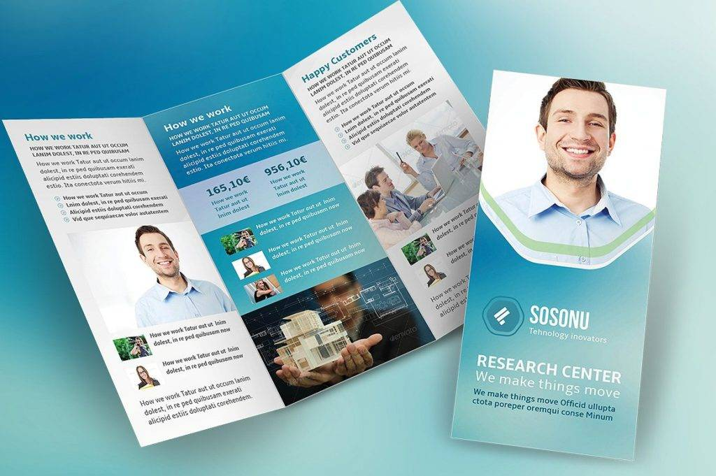 editable clean business trifold brochure1