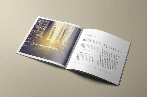 editable square brochure mockup