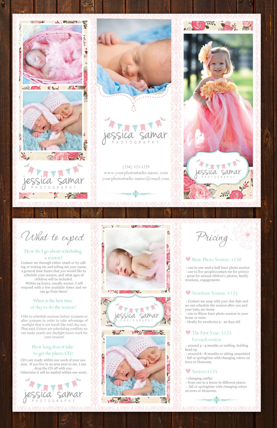 editable tri fold brochure with logo included