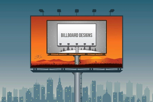 editable vector outdoor billboards with vector layers