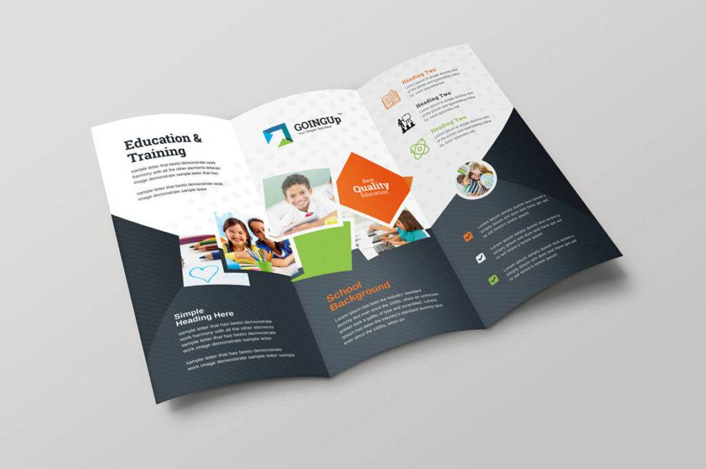 education training trifold brochure example