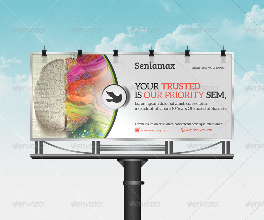 elegant corporate billboard example
