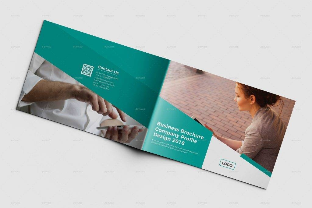 elegant landscape brochure design example