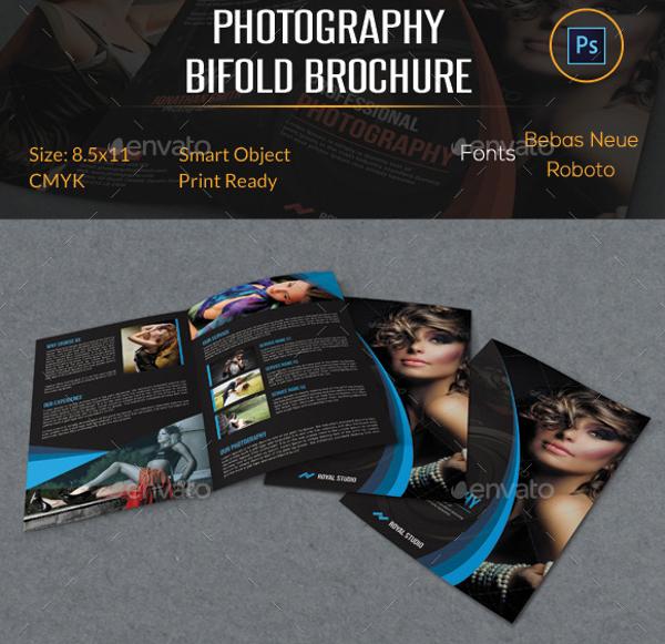 elegant photography bifold brochure