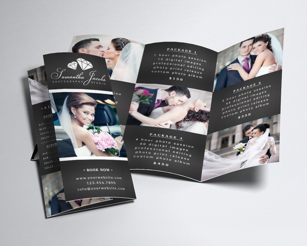 elegant photography tri fold brochure template