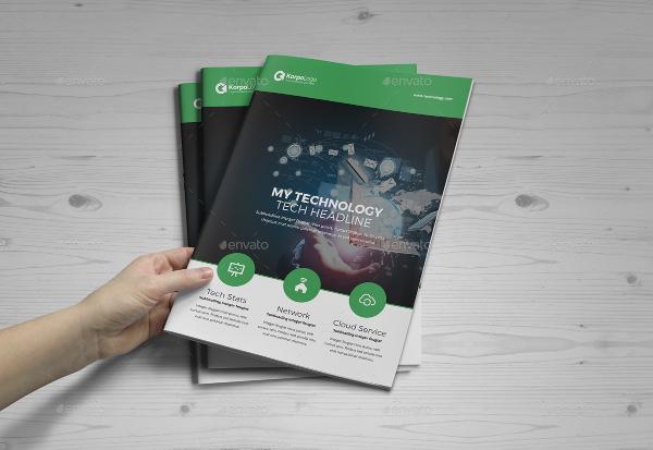 elegant technology brochure catalog design
