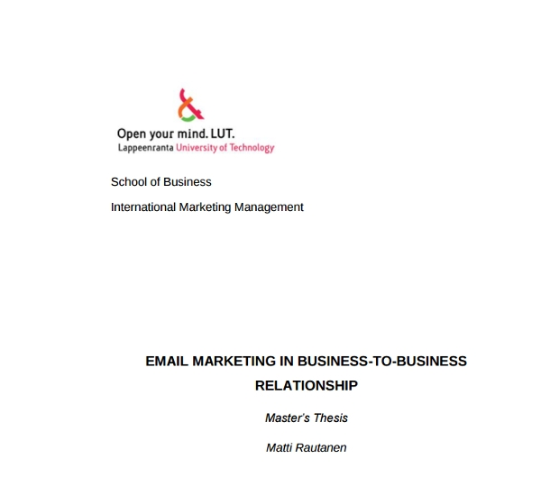 email marketing for b2b relationship