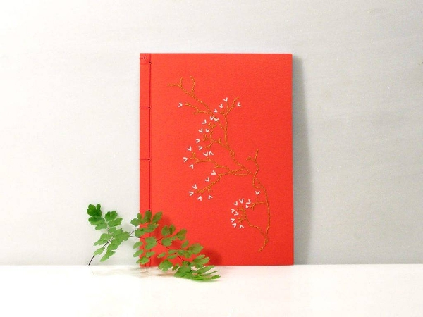 embroidered notebook cover