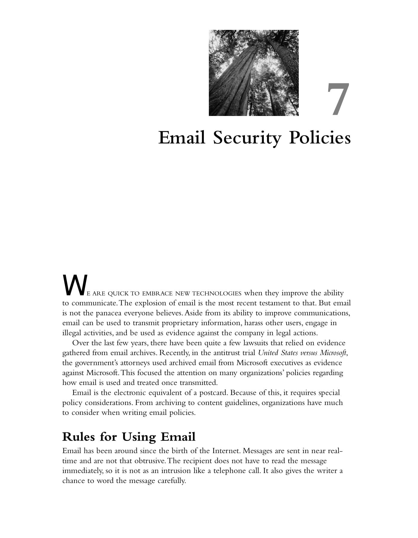 employee email security policies example
