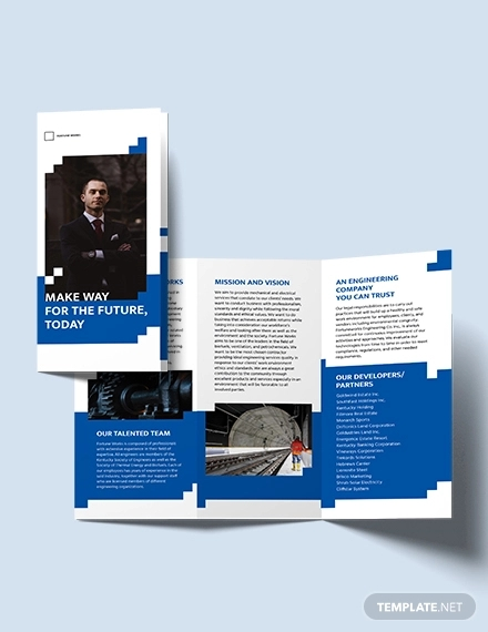 engineering consultants tri fold brochure template