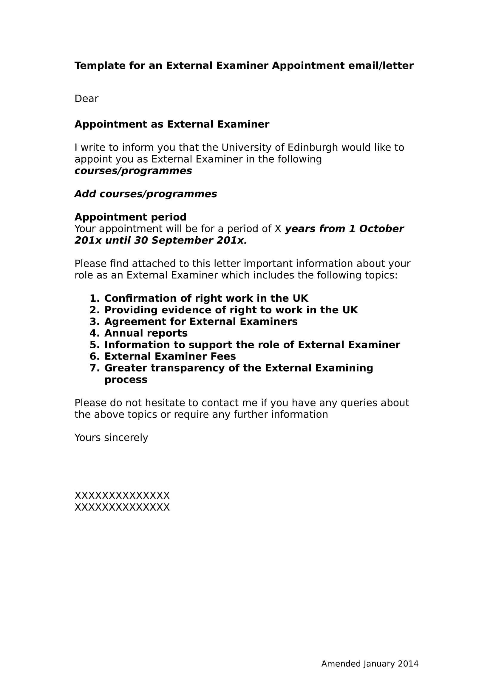 Job Appointment Letter Examples  Pdf Word