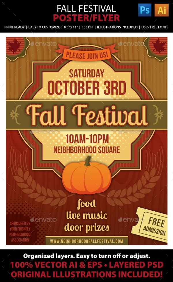 fall festival brochure cover