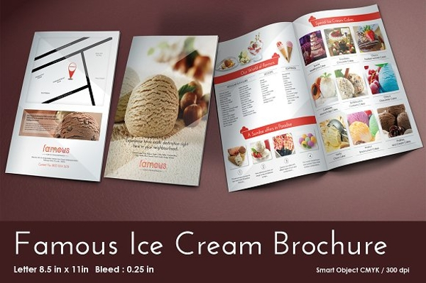 famous ice cream brochure and menu