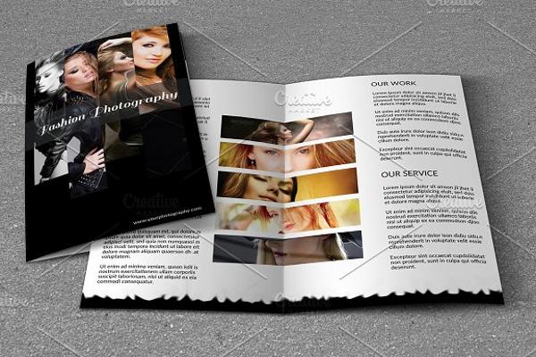 fashion photography bifold brochure