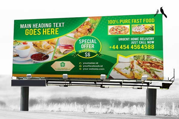 fast food billboard design template