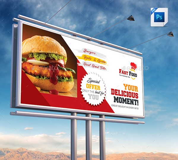 fast food billboard template